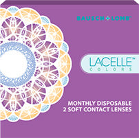 Lacelle Monthly Disposable Color Contact Lenses by Bausch & Lomb -2 Lens pack