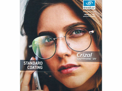 Crizal Sapphire UV 360 Anti Reflection Spectacle Lenses