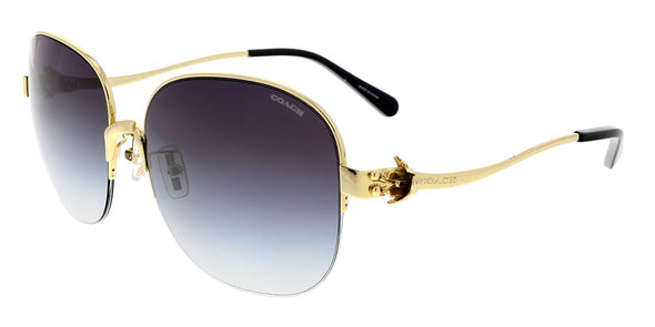 Coach HC 7068 Women Square Metal Sunglass
