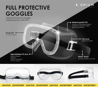 Opium Full Protective Safety Goggles