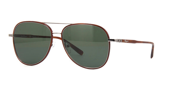 Salvatore Ferragamo SF181S  Metal Aviator  Sunglass For Men