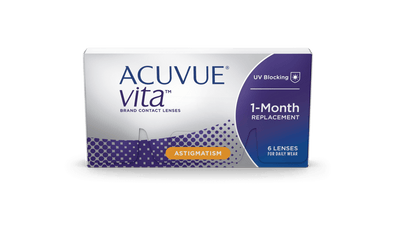 Acuvue Vita for Astigmatism  Monthly Disposable Toric Soft Contact lenses- 6 Lens Pack