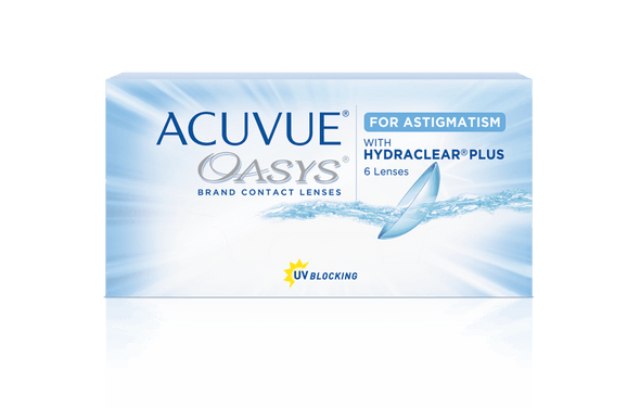 Acuvue Oasys for Astigmatism Toric Soft 2 Week Disposable Soft Contact lenses- 6 Lens Pack