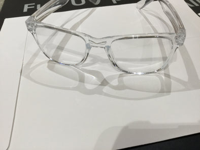 Crystal Wayfarer Frame with Anti _ Glare lenses ( zero power)