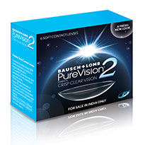 Purevision 2 Monthly Contact lenses By Bausch & Lomb -6 Lens Pack