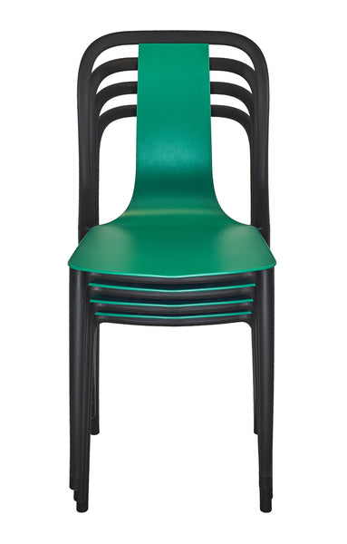 Modern Dining Chair, Indoor/Outdoor Stackable Pre-Assembled, Set of 4