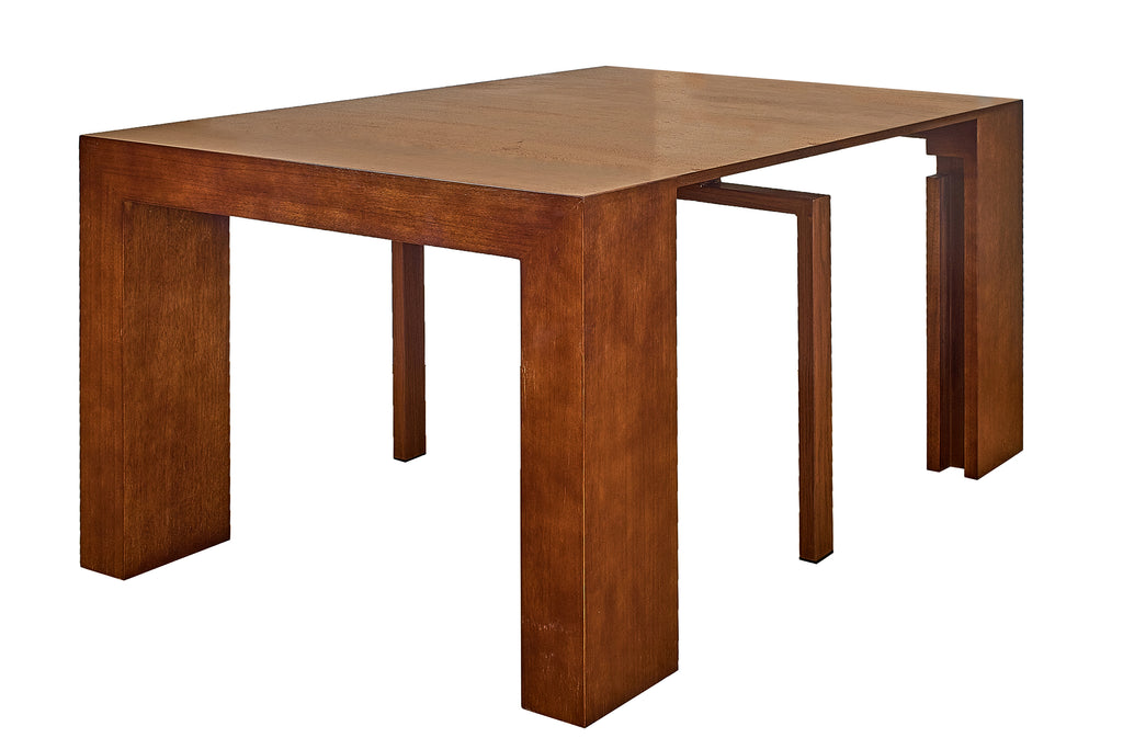 Pleasant Extendable Space Saving Table Transforms Console To Seat Twelve Sienna Pdpeps Interior Chair Design Pdpepsorg