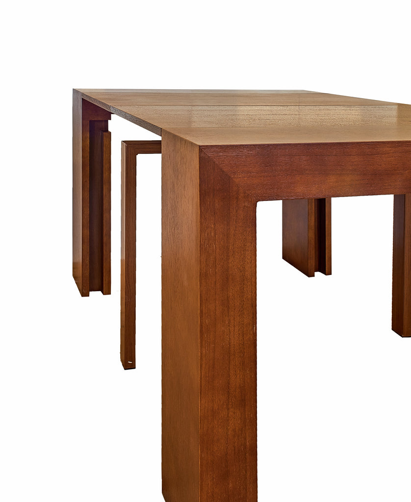Groovy Extendable Space Saving Table Transforms Console To Seat Twelve Sienna Pdpeps Interior Chair Design Pdpepsorg