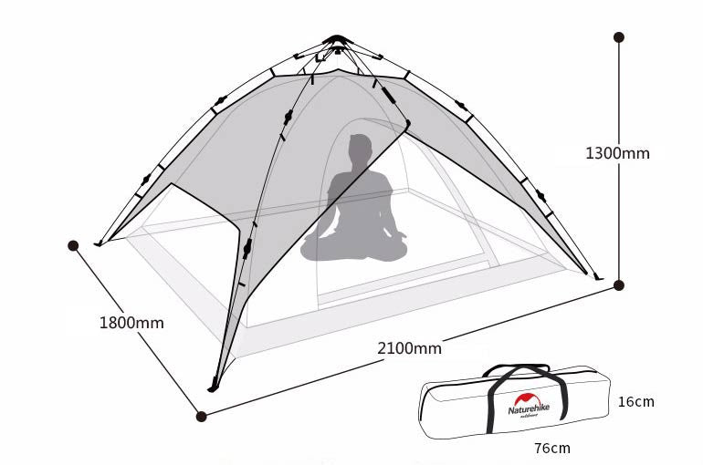... Naturehike 3-4 person automatic hydraulic tent. Target sports  sc 1 st  Target sports & Naturehike 3-4 person automatic hydraulic tent u2013 Target sports