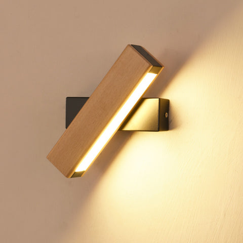 Applique Murale LED Nordique Simple en Bois