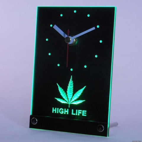 Horloge de Table à LED 3D - High Life