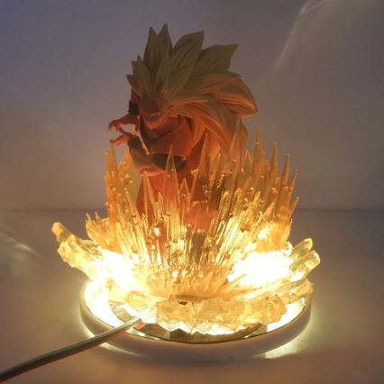Lampe de Nuit de Dragon Ball Z Goku Super Saiyan 3 LED