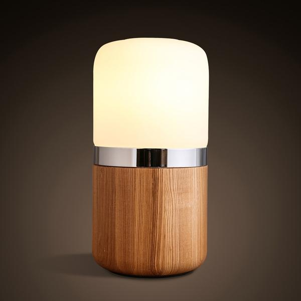 Lampe de bureau LED En Bois Faite Main