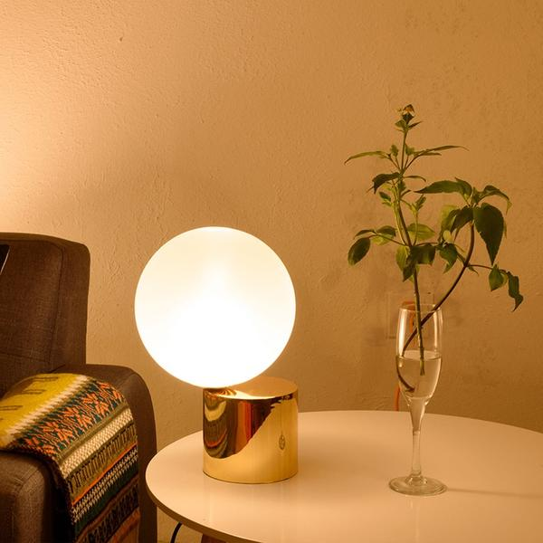 Lampe de table Lampe de chevet de luxe Gold Globe