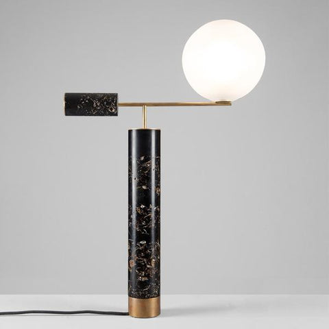 Lampe de table Sculptural en marbre - FLORA LAMP