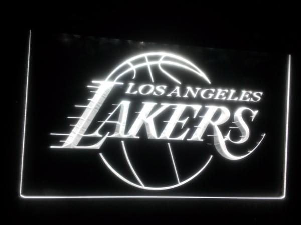 Lumineuse Plaque Gravure 3d Los Lakers Led Angeles f6gy7b