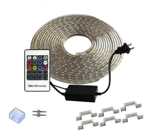Ruban flexible LED SMD 5050 220V RGB Etanche IP68