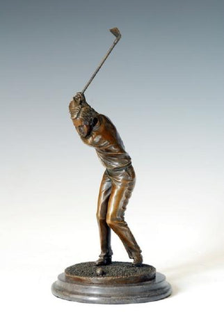 Sculpture en Bronze de Golfeur