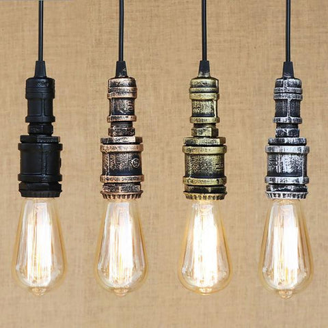 Suspension Industrielle Retro Tuyau de Plomberie style Steampunk