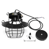 Suspension Industrielle Vintage - Lampe en Cage