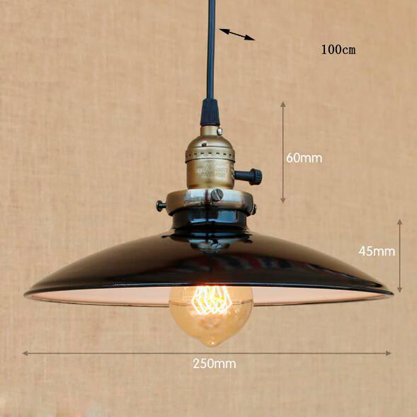Suspension Industrielle en Fer Moderne LED - THEOPHILE