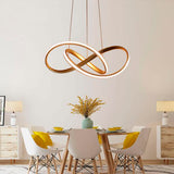Suspension LED Moderne Or&Blanc