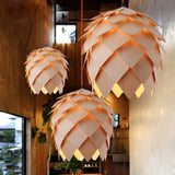 Suspension LED en Bois Pomme de Pin - HELGA