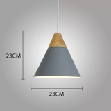 Suspension Scandinave Bois Aluminium E27 - GÖSTA
