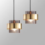 Suspension LED Moderne en Verre de Forme Cylindrique - RAMSES