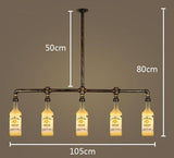 Suspension Industrielle Vintage en Forme de Bouteille de Whisky