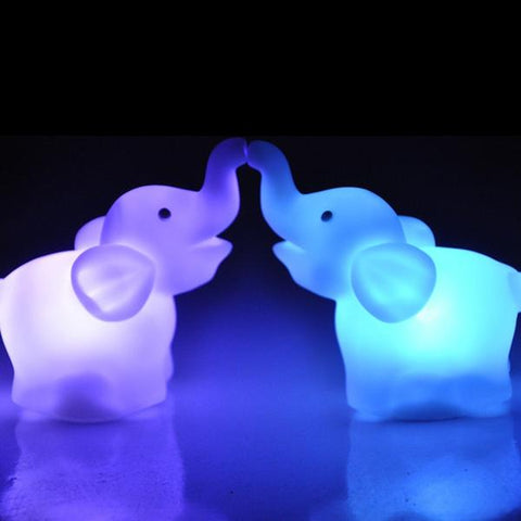 Veilleuse Elephant LED Change de Couleur