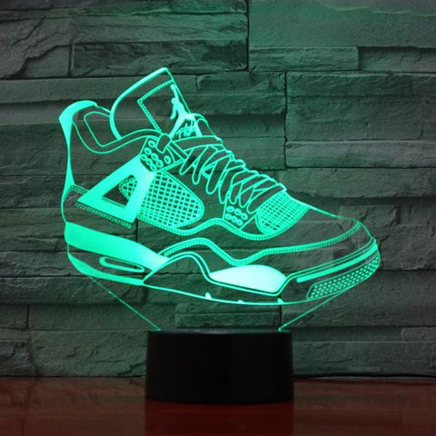 Veilleuse USB Multicolore Sneaker Chaussures Illusion 3D