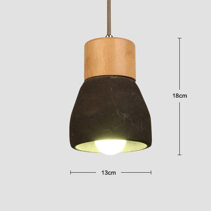 Suspension Scandinave Ciment Bois E27 - KAJSA
