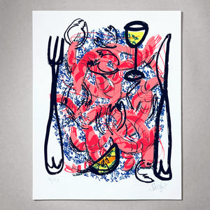 Prawn Platter Limited Edition Print