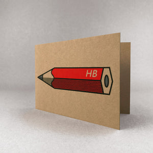 Red pencil card