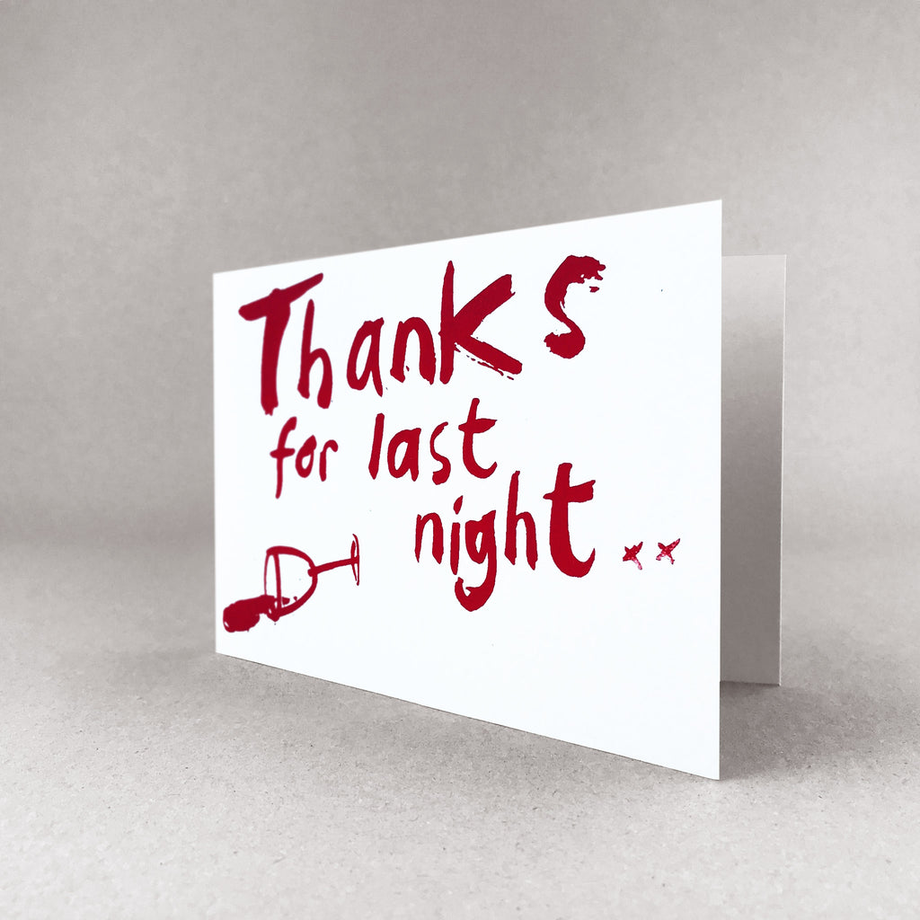 Thanks for last night card
