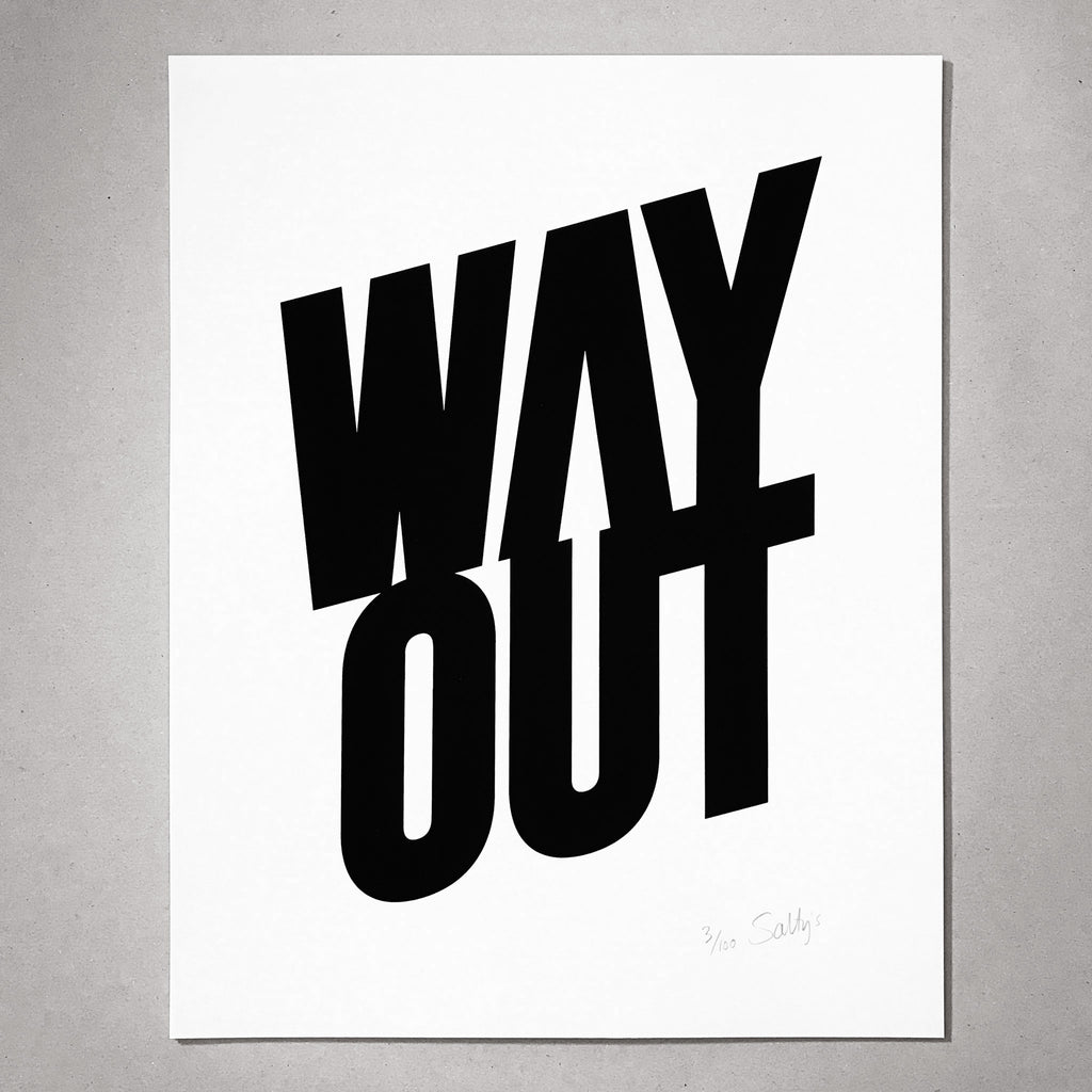 Way Out print