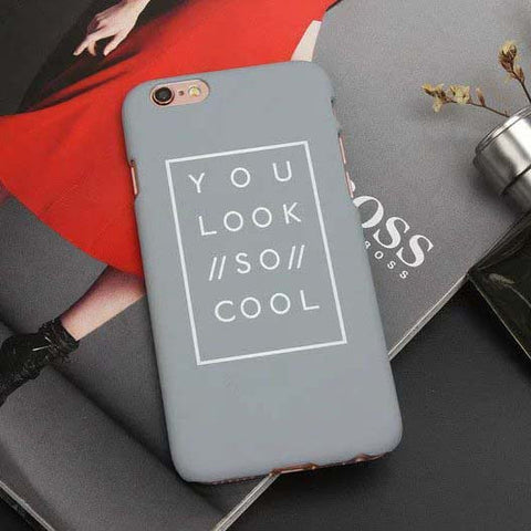 Fashion Matte Letter Case For iPhone 5 / 5s / 6 / 6S (Plus)