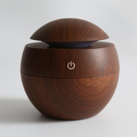 Mini Portable Wood Ultrasonic Humidifier