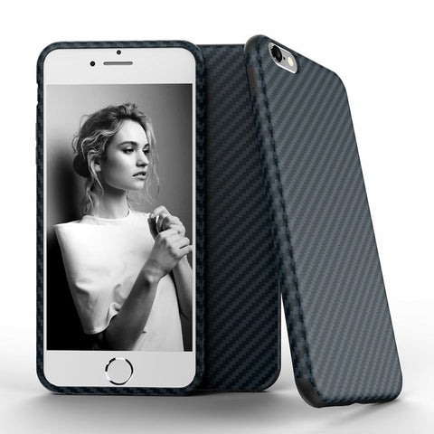 Soft Carbon Fiber Case For iPhone 6 / 6S (Plus) / 7