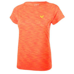 VICTOR Casual T-shirt dam Orange T-81031O