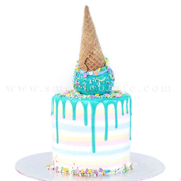 Toppled Ice Cream Cake