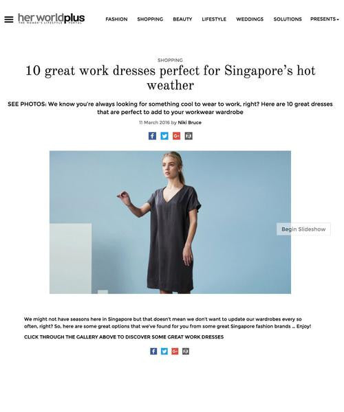 10 Great Work Dresses Perfect for Singapore's Hot Weather / Her World plus
