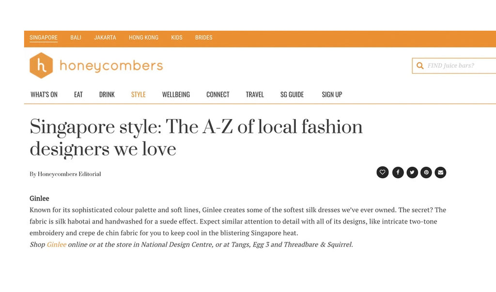 Honeycombers: Singapore style: The A-Z of local fashion designers we love