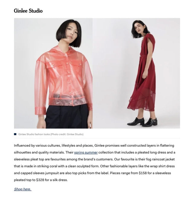 Lifestyle Asia: 9 Singaporean womenswear brand to shop for