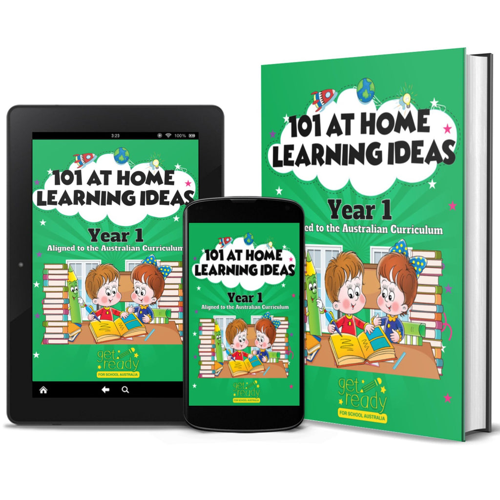Digital Version - Year 1 - 101 At Home Learning Ideas - Get Ready For School Australia