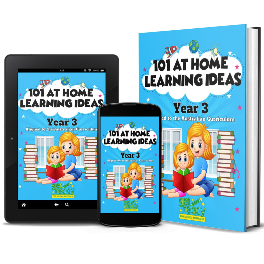 Digital Version - Year 3 - 101 At Home Learning Ideas - Get Ready For School Australia