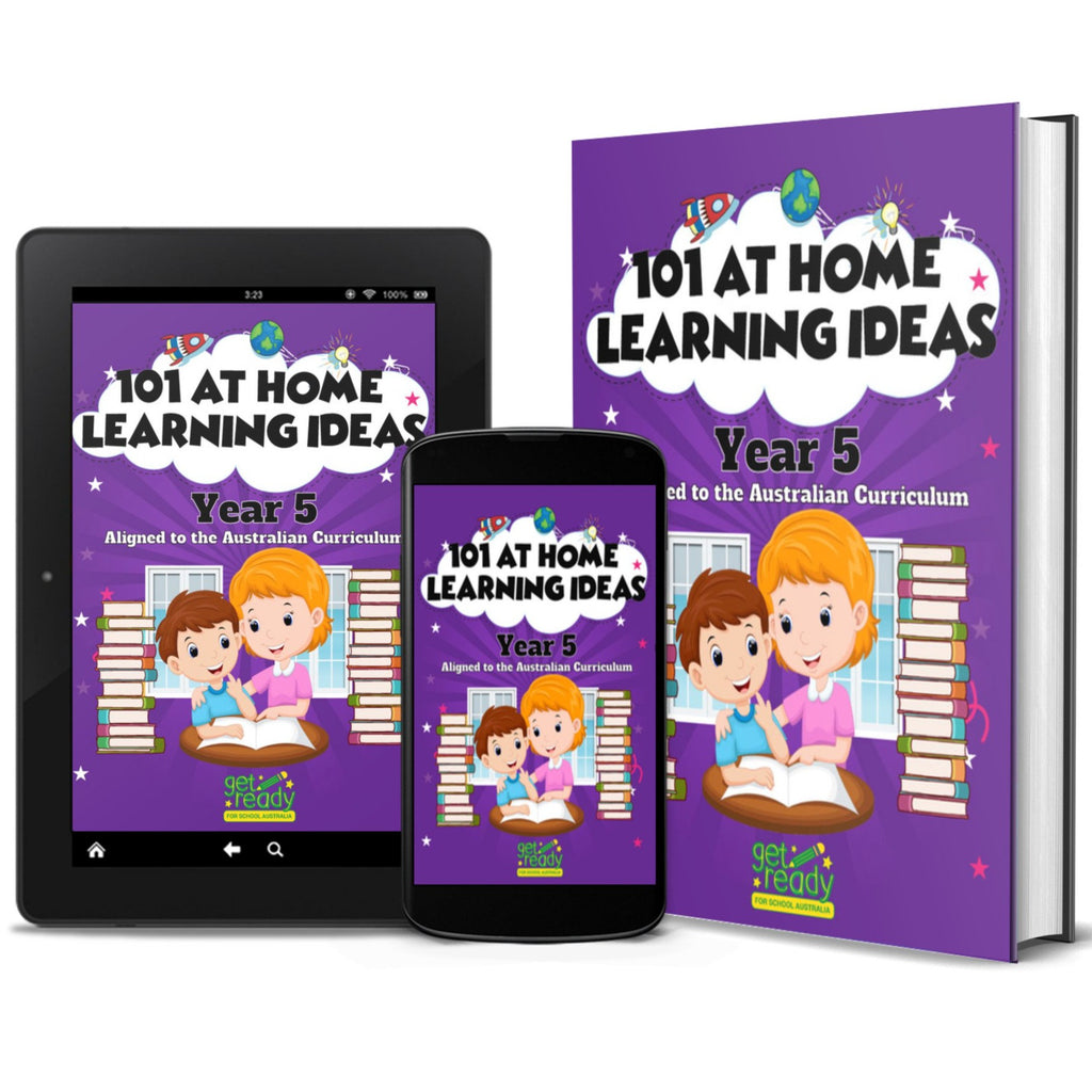 Digital Version - Year 5 - 101 At Home Learning Ideas - Get Ready For School Australia