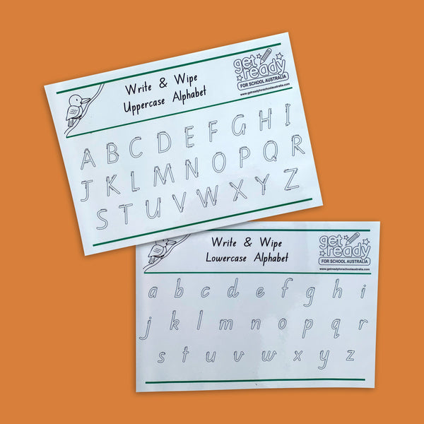 Uppercase and Lowercase Write and Wipe - Get Ready For School Australia