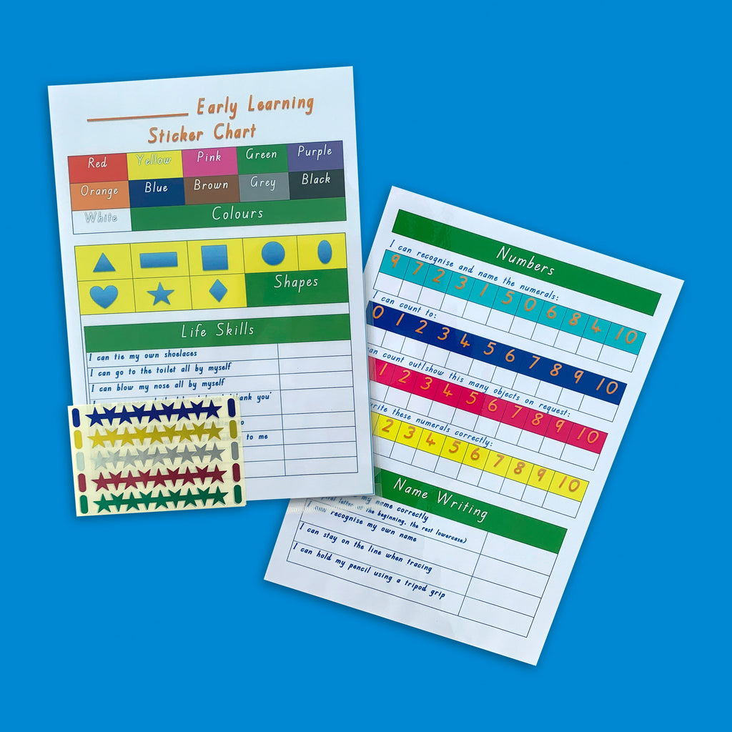 Printable Early Learning Sticker Chart - Get Ready For School Australia